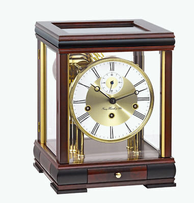 Hermle Mahogany Westminster Chime Table Clock 22998-070352
