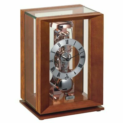 Hermle Cherry/Rose Gold Mechanical Table Clock 23011-160791