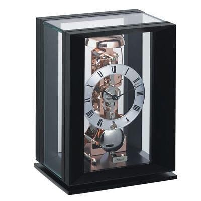 Hermle Piano Black/Rose Gold Mechanical Table Clock 23011-740791
