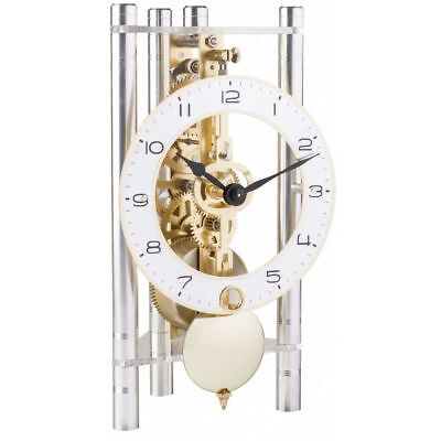 Hermle 23024-X40721 Silver Modern Mechanical Table Clock