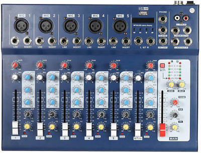MIXER AUDIO PROFESSIONALE 7 CANALI USB CON ECHO-DELAY dj karaoke