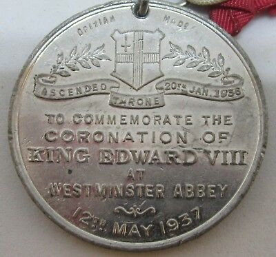 1937 KING EDWARD VIII 39mm CORONATION MEDALLION