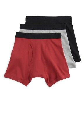 NEW TEK Gear 3 Pack Boys Boxer Briefs Size Large 14/16 Red/Black/Gray