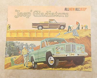 Vintage 1962 Kaiser JEEP GLADIATOR PICK-UP TRUCK & Panel Delivery Sales Brochure
