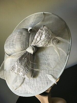 NIGEL RAYMENT Silver Grey Hatinator Wedding Occasion  HAT MOTHER OF THE BRIDE