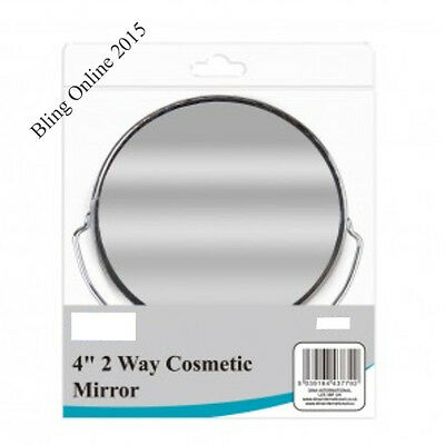 """Small 4"""" Two Way Makeup Mirror Eye Lashes Eyebrows Magnifying Double Sided Stand"""