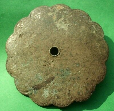 Large Ancient Celtic Bronze Solar Amulet Decoration - 200 Bc - Rare