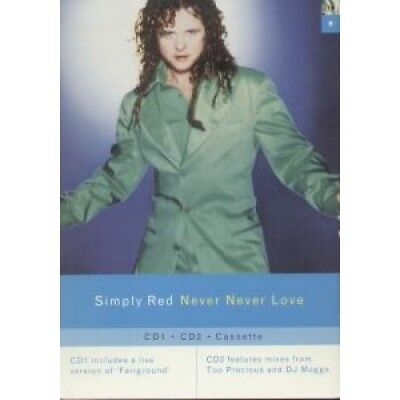SIMPLY RED Never Never Love SHOP DISPLAY UK East West Promo Shop Display Card