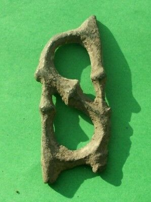 Ancient Celtic Bronze Snake Heads Amulet Decoration  - 400 Bc -  Rare Type