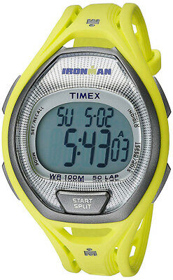 Timex Unisex Ironman Essential 50 Lap 100m Lime Resin Watch TW5K96100
