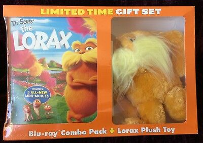The Lorax Blu-ray + Digital Copy + Plush Toy + DVD LIMITED EDITION Gift Set *NEW