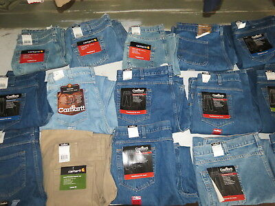 Lot Of 16 Brand New Carhartt Jeans All Mens Sizes Nwt Loose Relaxed Work Jeans