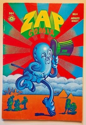 """ZAP COMIX NO. 4, FIRST PRINT?, top staple @2-5/16"""" great condition, orig owner"""