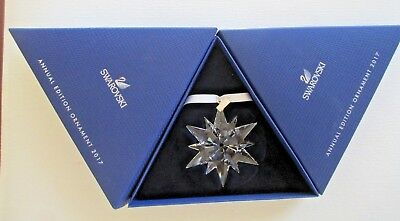 SWAROVSKI 2017 Crystal Annual Edition Christmas Holiday Ornament Mint NIB