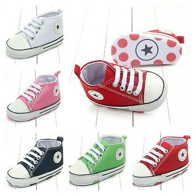 Toddler Boy Shoes Sneaker Sole 0-12 Months Soft Mrib Girl New Born Infant