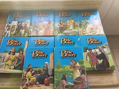 The Bible Story by Arthur S. Maxwell COMPLETE SET 1-10 LOT of 10 HARDCOVER BOOKS