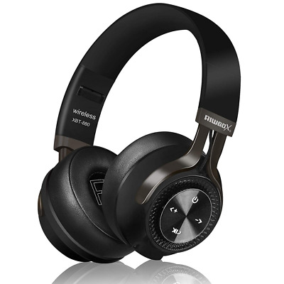 Wired Foldable Bluetooth Headphones Wireless Over Ear with Mic Volume Control US