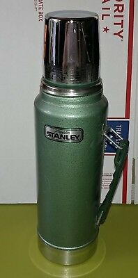 Vintage Stanley Aladdin Quart Green Thermos Bottle Model No A-944DH Steel USA