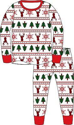 Children's Christmas Xmas Pyjamas Pajamas PJ's Nightwear Age 2-14 Years