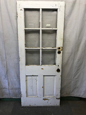 Interior Vintage Wood Door with 6 Lite Glass 32x80