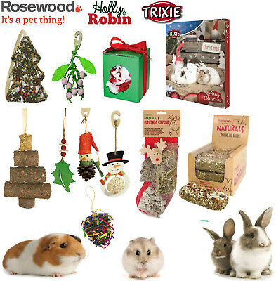 Rosewood Naturals Small Animal Christmas Treats Stocking Toys Gnaws Chews