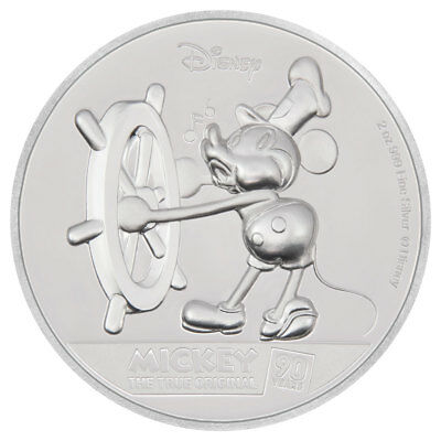2018 Niue Mickey Mouse 90th Ultra High Relief 2 oz Silver Proof $5 Coin SKU54549