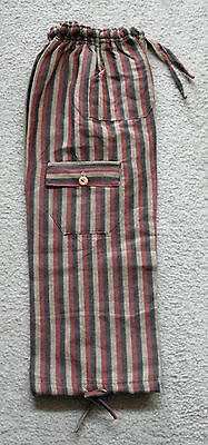 Made In Peru Cotton & Rayon Casual Colorful Baggie Pants Children Size #101131