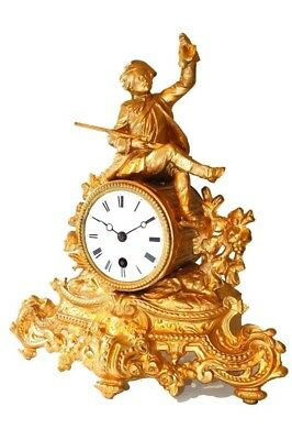 19th Century French Gilt Clock
