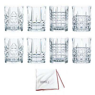 Nachtmann Highland Whisky Tumbler, Set of 8 with Polishing Cloth