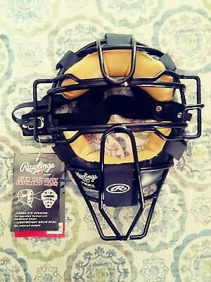 NWT Rawlings High Visibility PWMX Wire Baseball/Softball Umpire Mask - Black
