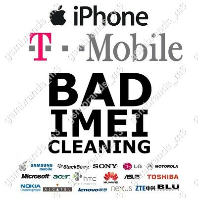 T-MOBILE USA BAD IMEI CLEANING TMOBILE T-MOBILE USA BAD ESN iPhone 7 7+ 7 Plus