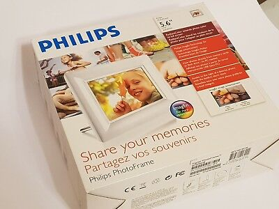 Philipps Digital Photo Frame Share Your Memories 5.6inch Preloved Fantastic...
