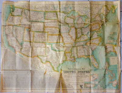 1925 - New commercial map of the UNITED STATES - map usa rare