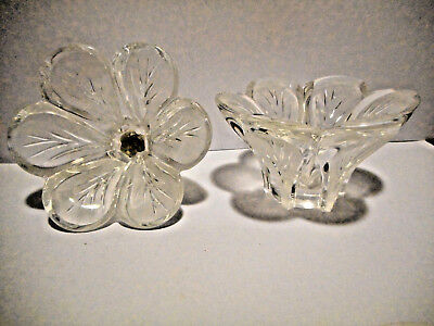 Crystal D'Arques Pair Very Pretty Candle Holders With Original Stickers