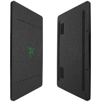 Skinomi Brushed Steel Skin+Clear Screen Protector For Razer Blade Stealth