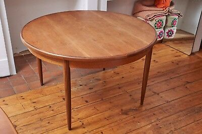 G Plan Round Extendable Dining Table