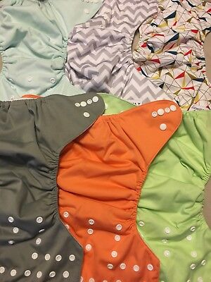6 Nora's Nursery Cloth Diapers With Hemp Inserts