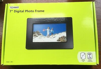 "Technika 7"" Digital Photo Frame In Black 'Box Opened But Never Used'"
