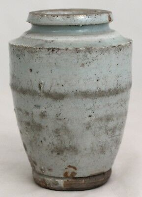 Chinese Yuan Ming Dynasty Gray Glazed Porcelain Tapered Vase 14th/15th Century