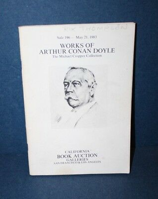 Auction Catalog - Works of Arthur Conan Doyle - Michael Cropper Collection 1983