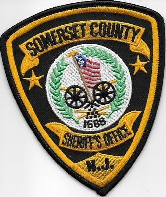 Somerset County Nj Sheriff Dept Canons Flag Sc So Sd (Fire) 1688 New Jersey