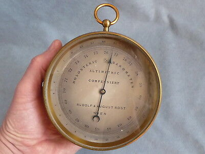 antique french PHNB  holosteric barometer surveying altimeter  Rost Wien 1900 s
