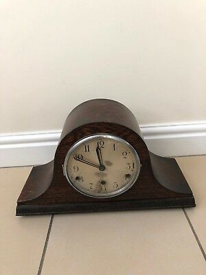 Vintage Wooden Chiming Mantle Clock. Mechanism By Armac England
