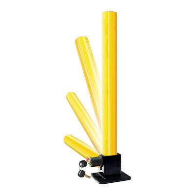 Yellow Security Folding Packing Post Lock for Home School Shop Driveways Garage