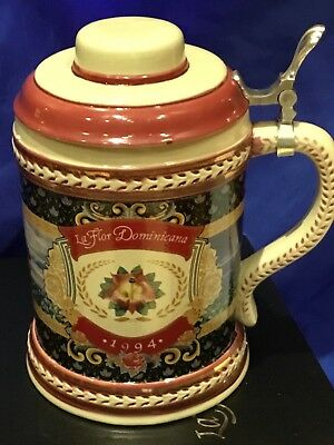 20th Anniversary 1994 La Flor Dominicana Cigar Porcelain Beer Stein IN CASE