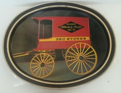 Vintage The Great Atlantic & Pacific Tea Company A&P Tray  Tin Serving Tray
