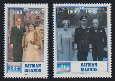 Cayman Is. - 1990 Queen Mother Set. Sc. #622-3, SG #711-12. Mint NH