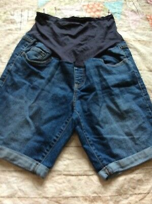 Old Navy Maternity Jean Denim Shorts Size 12 Cute Cuffed
