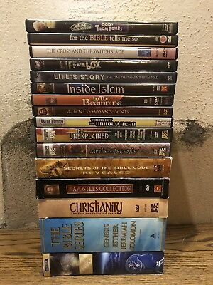 Lot of (16) Christian Religious Ministry Faith DVD's A&E History Rare OOP HTF