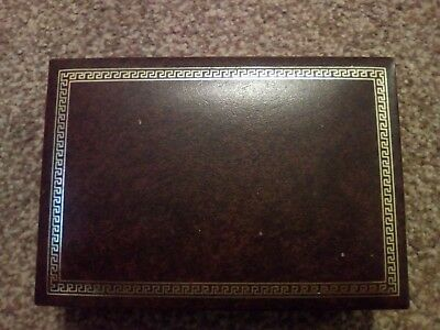 Vintage / Antique Empty Old Jewellery - box labelled GLOUCESTER
